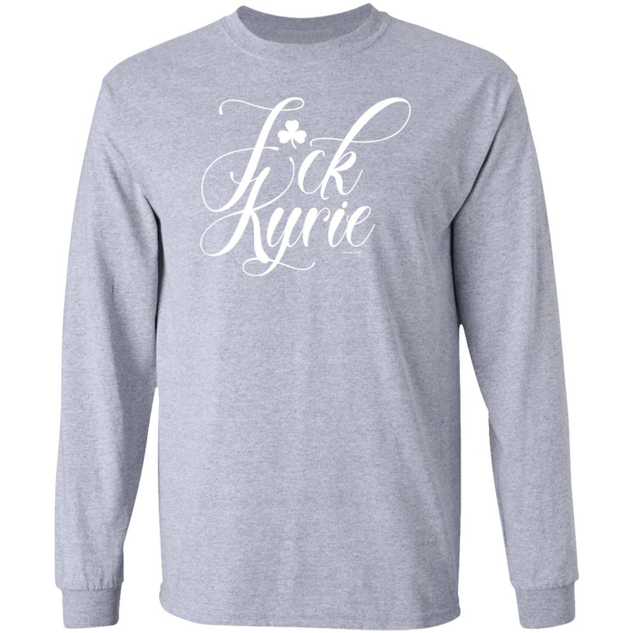 -Men's Premium Cotton F*ck Kyrie White Lettering