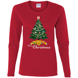 Women's Premium Cotton Merry Christmas Boston