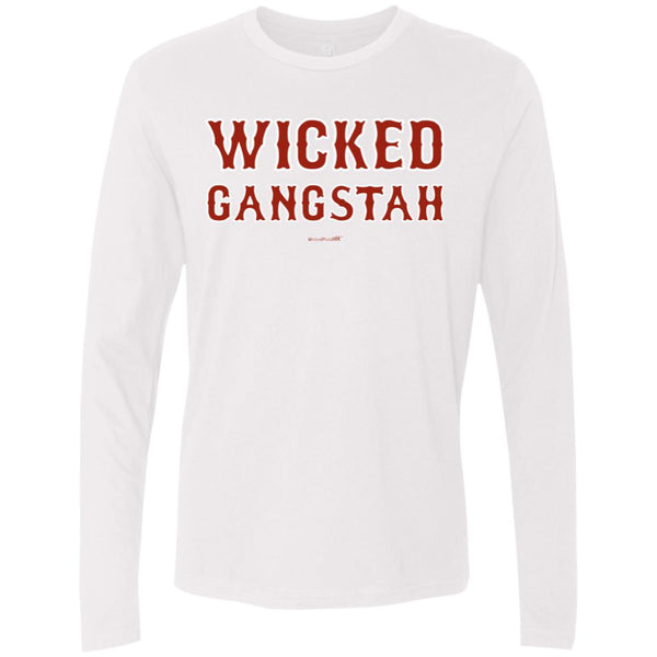 -Men's Premium Cotton Wicked Gangstah Red Letters