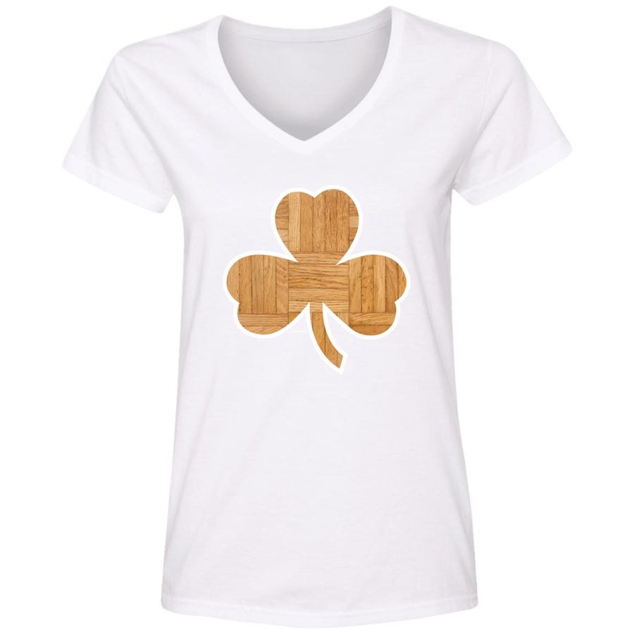 WPFC Women's V-Neck T-Shirt Boston Basketball Clover