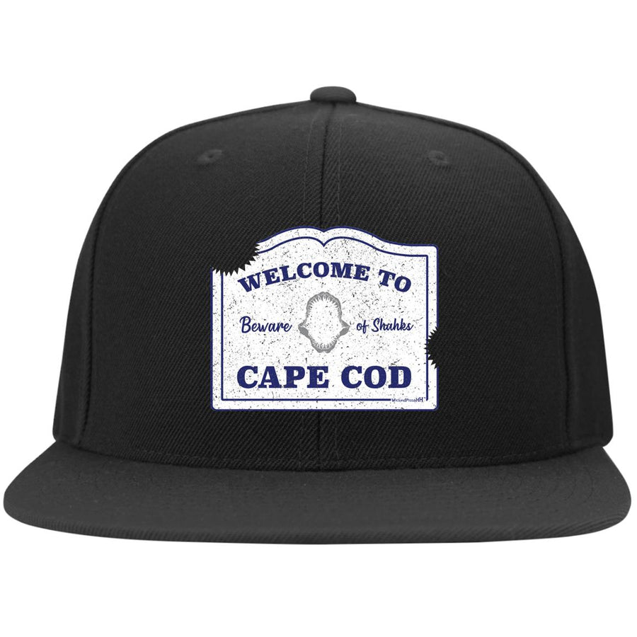 Cape Cod: Beware of Shahks Flat Bill Snapback Hat