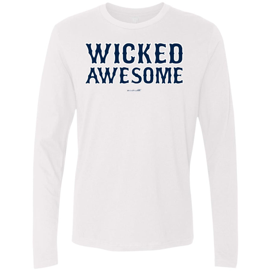 -Men's Premium Cotton Wicked Awesome Blue Letters