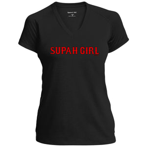 Women's Premium Cotton Supah Girl Red Letters