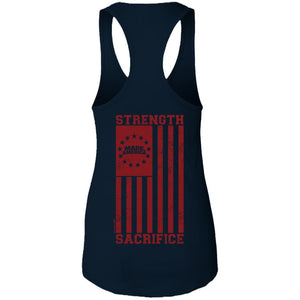 Women's Premium Cotton Built on Strength Flag+