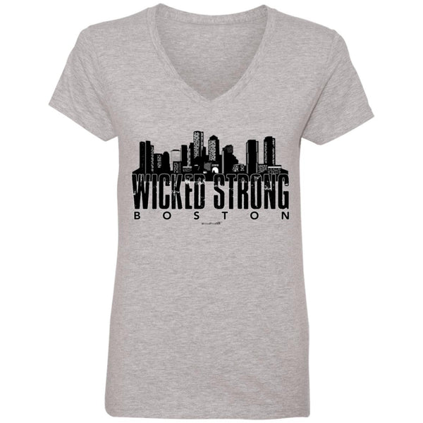 WPFC Women's V-Neck T-Shirt Boston is Wicked Strong