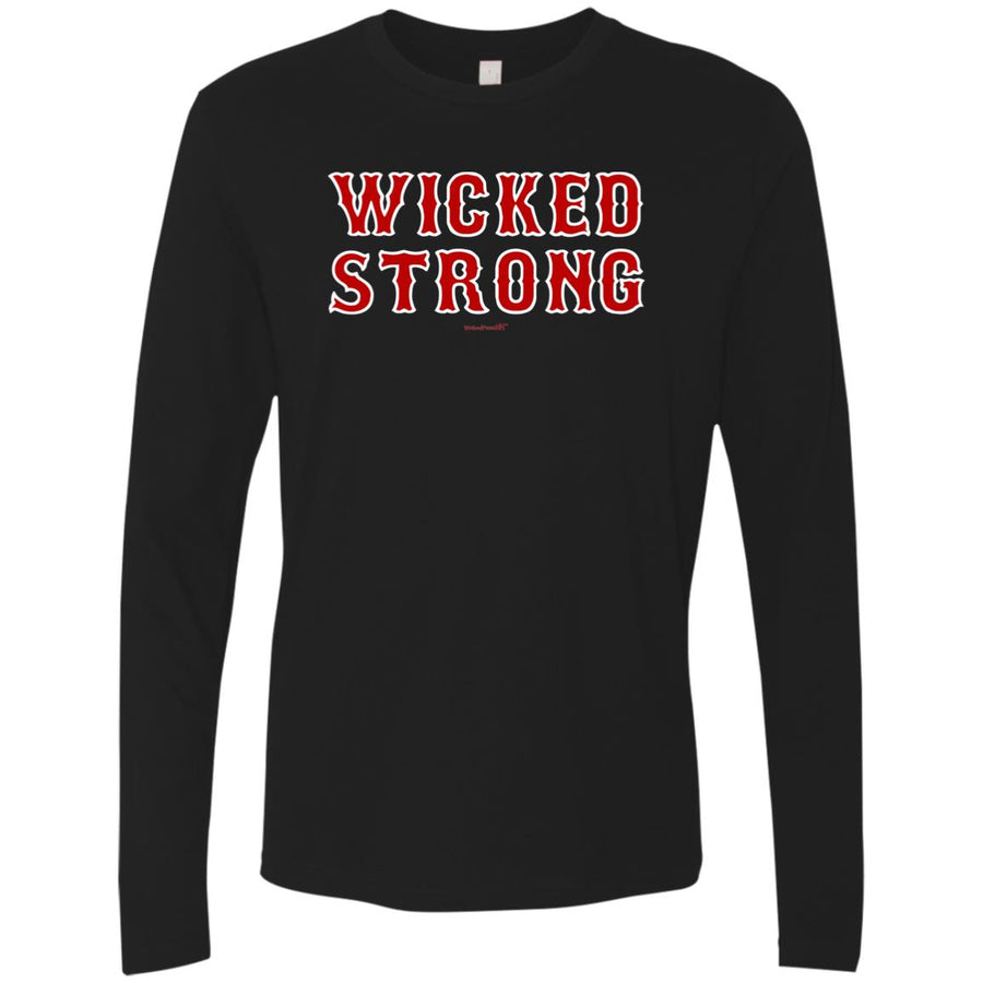 -Men's Premium Cotton Wicked Strong Stacked red letters
