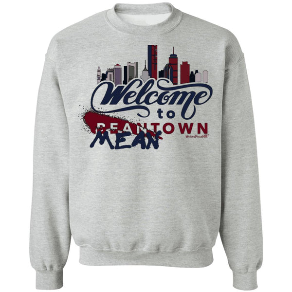 Unisex Crewneck Outah-Wear Welcome to Meantown Sweatshirt