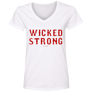 WPFC Women's V-Neck T-Shirt Wicked Strong