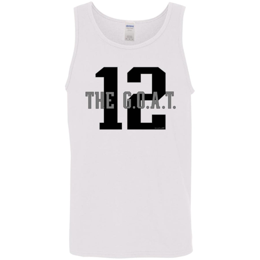 -Men's Premium Cotton #12 G.O.A.T w/Stats
