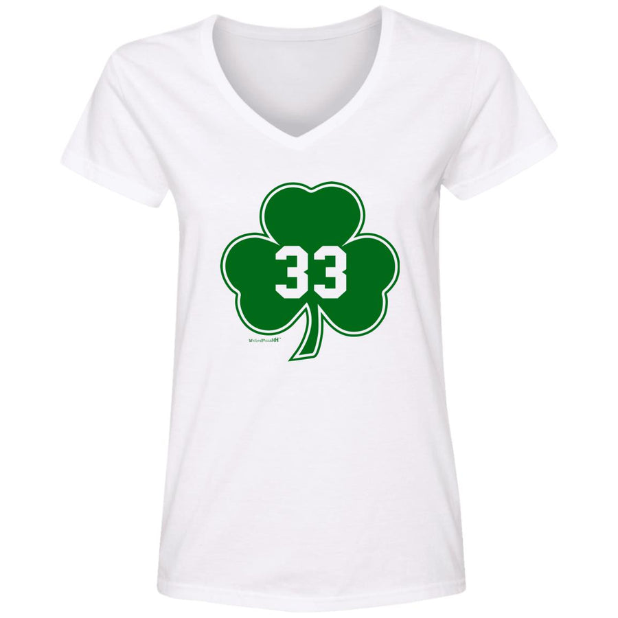 WPFC Women's V-Neck T-Shirt Boston Basketball 33