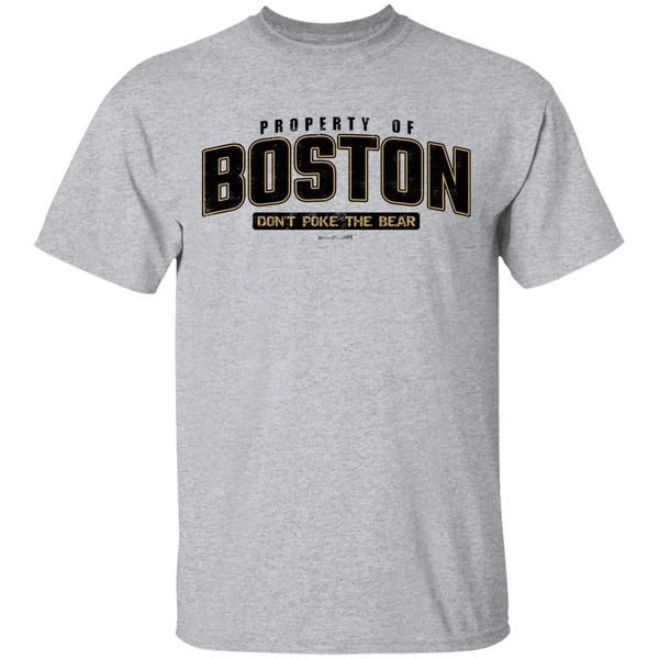 -Men's Premium Cotton Property of Boston Hockey