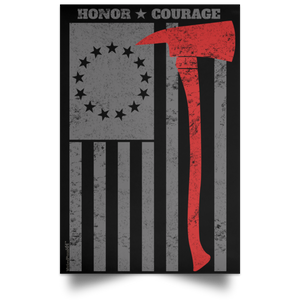 Vertical Poster First Responder Flag