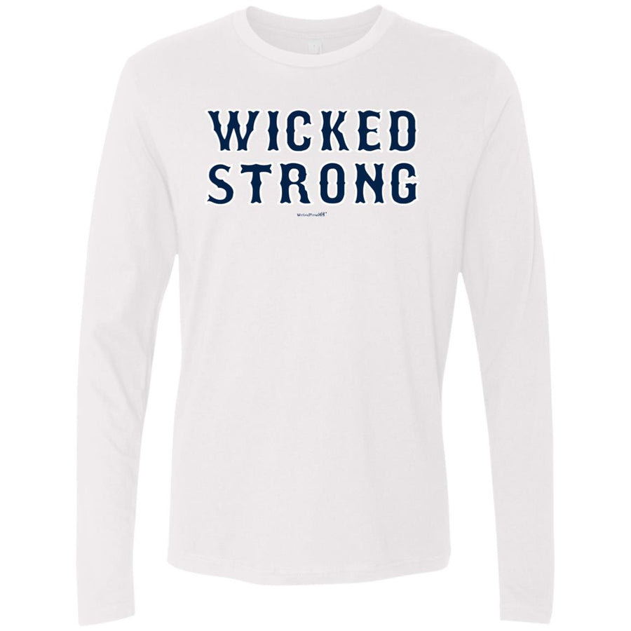 -Men's Premium Cotton Wicked Strong Stacked Navy Letters