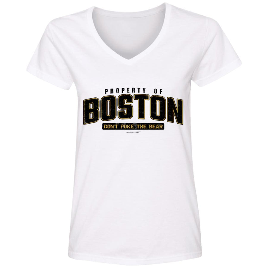WPFC Women's V-Neck T-Shirt Property of Boston Hockey