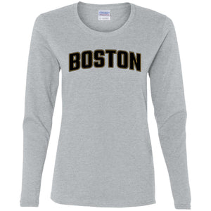 Women's Premium Cotton Boston Hockey Themed+