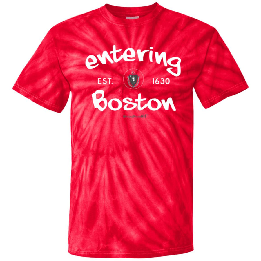 -Men's Premium Cotton Tie Dye Entering Boston