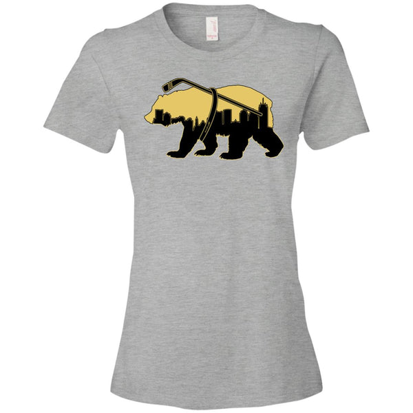Women's Premium Cotton Boston Bear Carrying Hockey Stick+