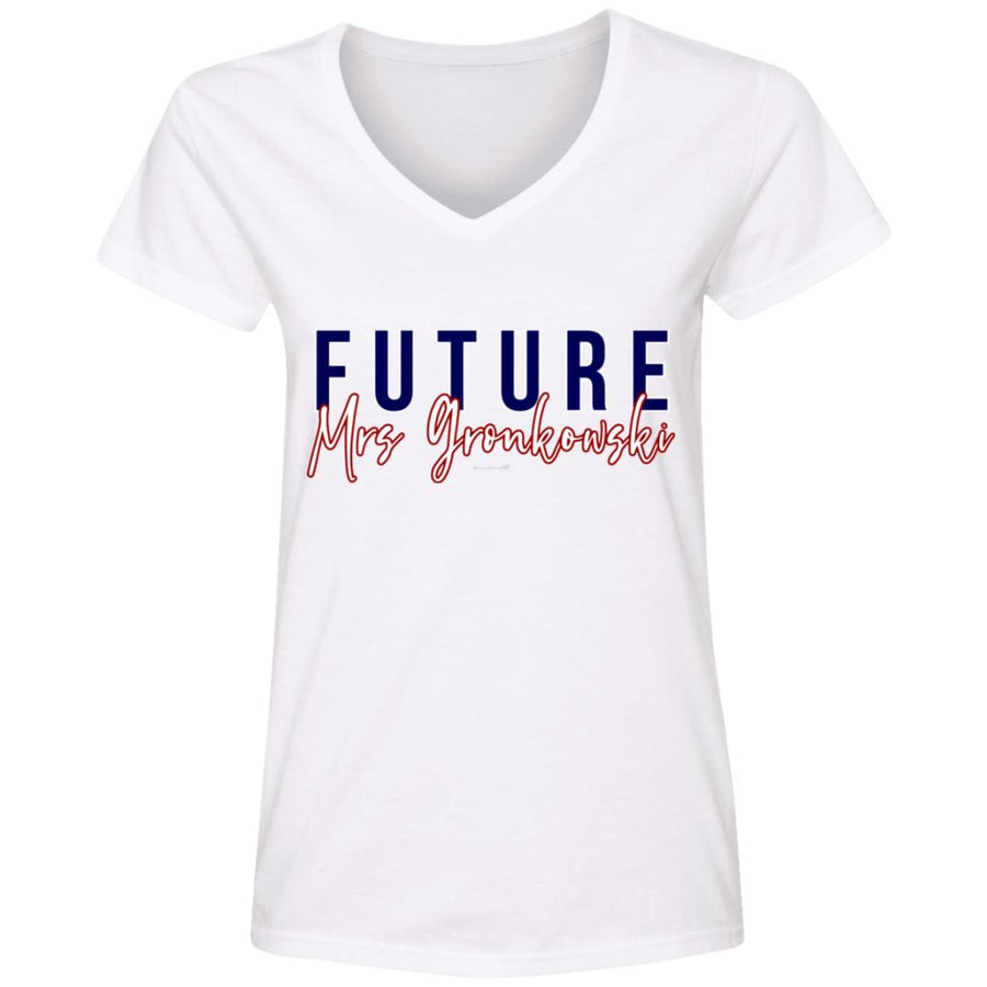 WPFC Women's V-Neck T-Shirt Future Mrs. Gronkowski