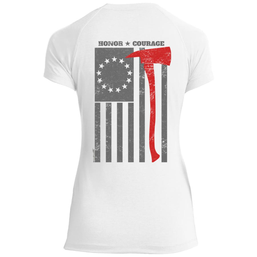 Women's Premium Cotton Built on Courage Flag (First Responder)+