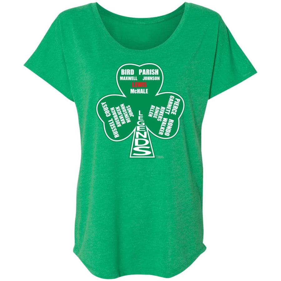 Women's Premium Cotton Boston Basketball Legends (Shamrock)