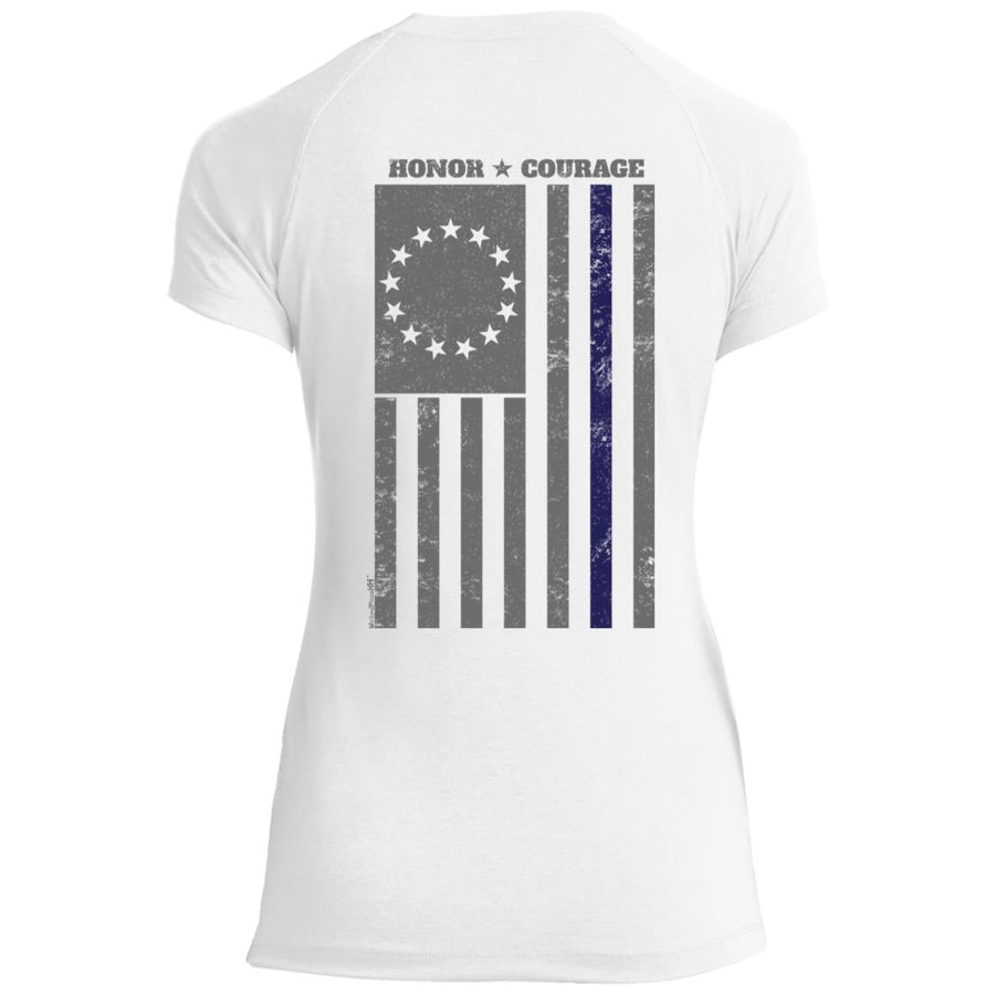 Women's Premium Cotton Built on Honor Flag (Law Enforcement)+