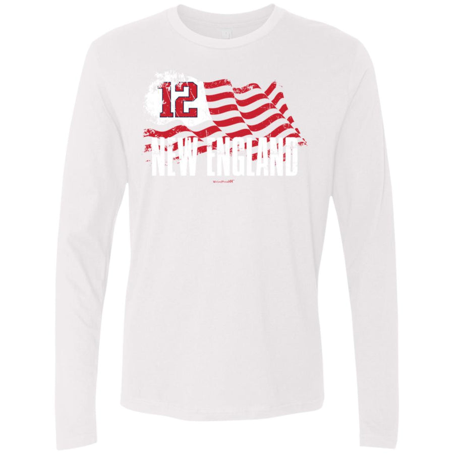 -Men's Premium Cotton Boston Football Flag