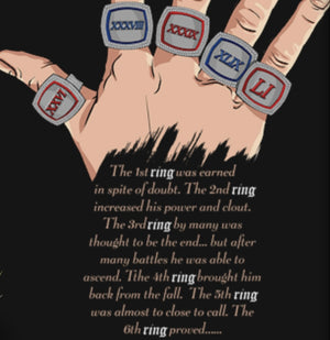 -Men's Premium Cotton TSSR (G.O.A.T.) the story of the six (6) rings