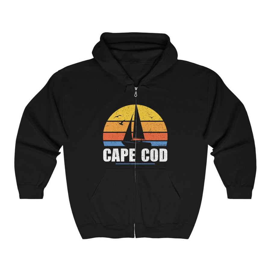 Unisex Outah-Wear Sail Away Cape Cod Heavy Blend™ Full Zip Hooded Sweatshirt