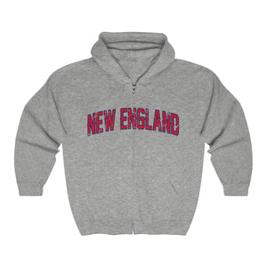Unisex Outah-Wear Heavy New England Full Zip Hooded Sweatshirt