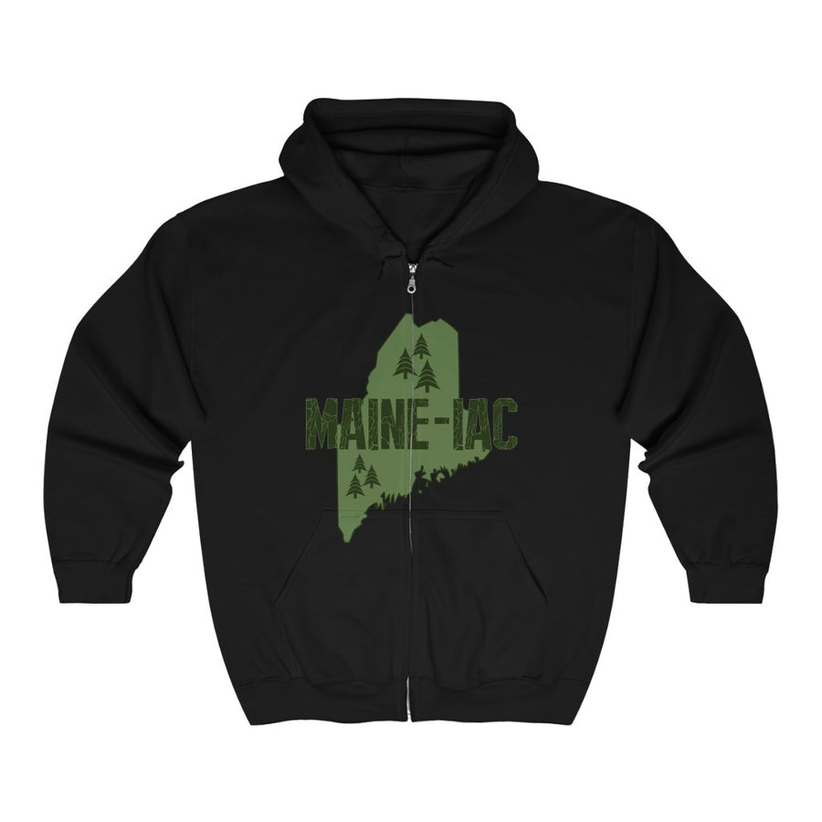 Unisex Outah-Wear Maine-Iac Heavy Full Zip Hoodie