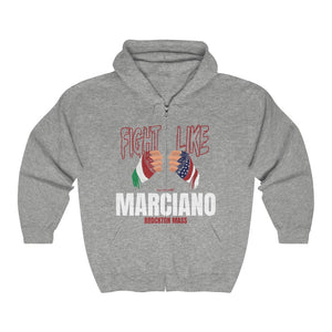 Unisex Outah-Wear Fight Like Marciano Heavy Full Zip Hoodie