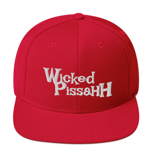 Unisex Wicked Pissahh Logo Stacked Snapback Hat