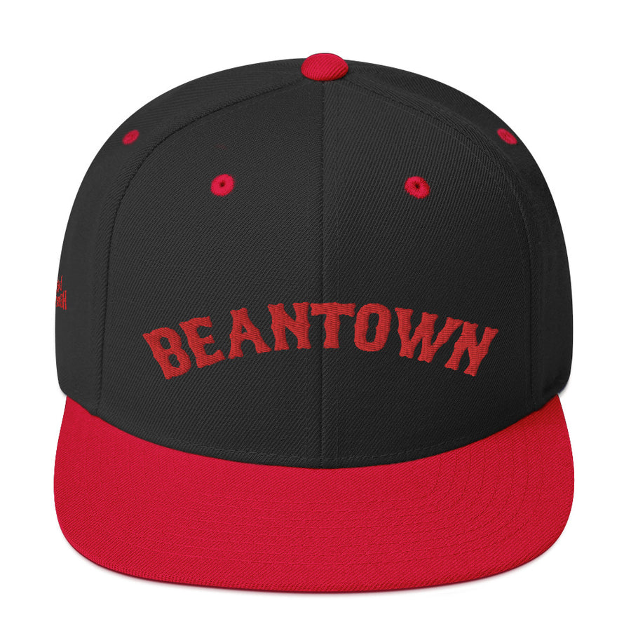 Unisex Beantown Baseball Red Leters Snapback Hat