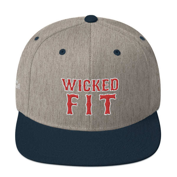 Unisex Wicked Fit Red Letters Snapback Hat