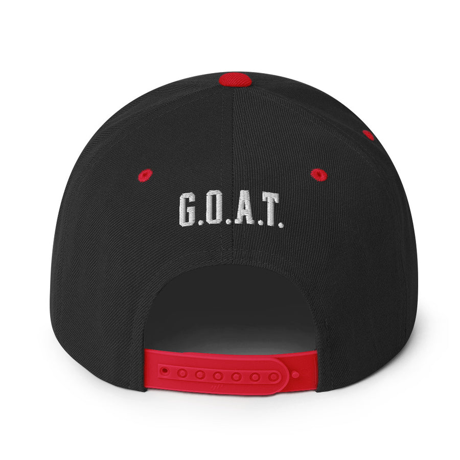 Unisex GOAT 12 Silver Letters Snapback Hat