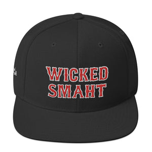 Unisex Wicked Smaht Red Letters Snapback Hat
