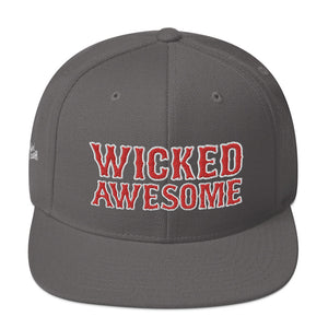 Unisex Wicked Awesome Red Letters Snapback Hat