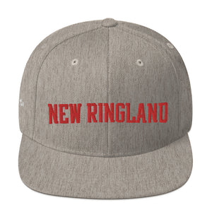 Unisex New Ringland Red Letters Snapback Hat