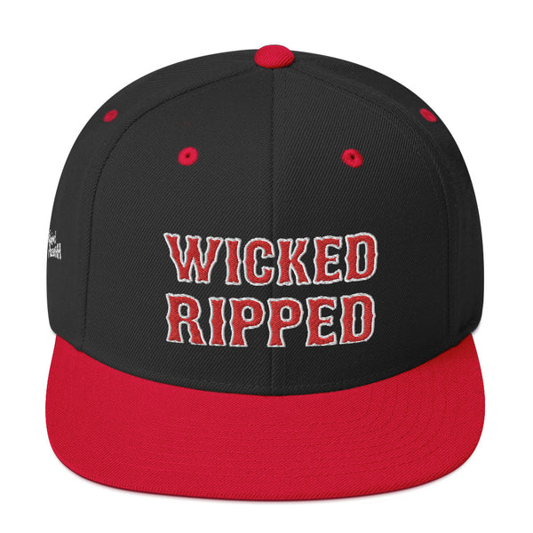 Unisex Wicked Ripped Red Letters Snapback Hat