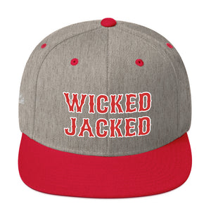 Unisex Wicked Jacked Red Letters Snapback Hat
