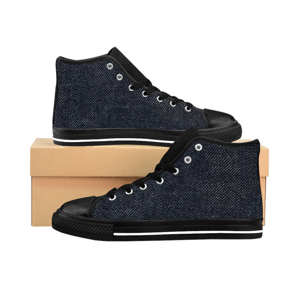 4e4538152fbb Men's Denim Shoes, Men's High-Top Denim Sneakers, Custom Men's Shoes ...