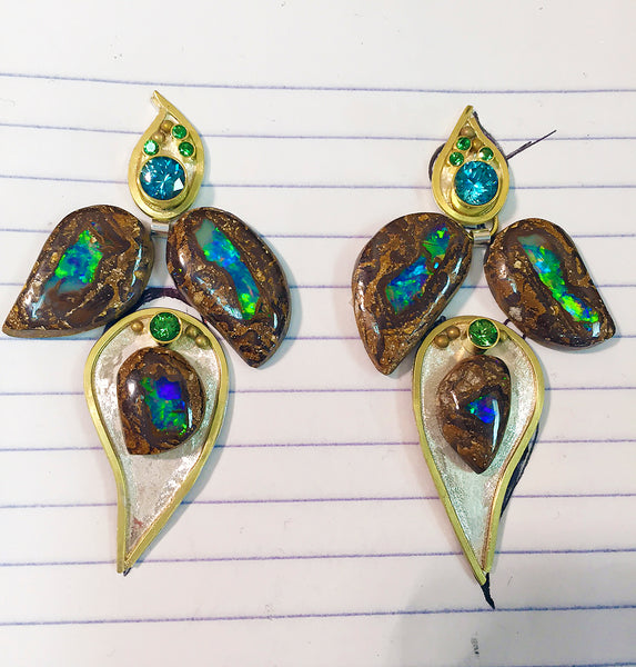 boulder-opal-blue-zircon-tsavorite-earrings-kalled