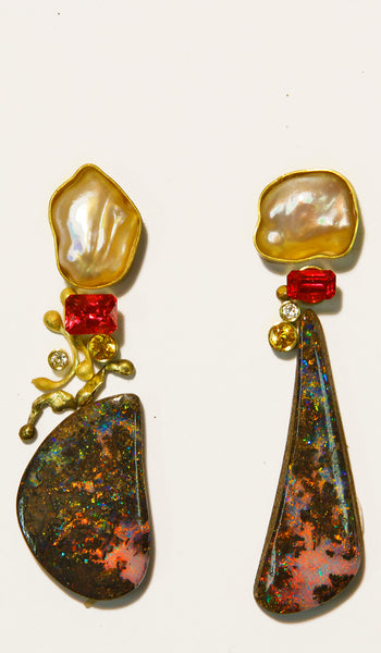 boulder-opal-earrings-gold-pearl-kalled