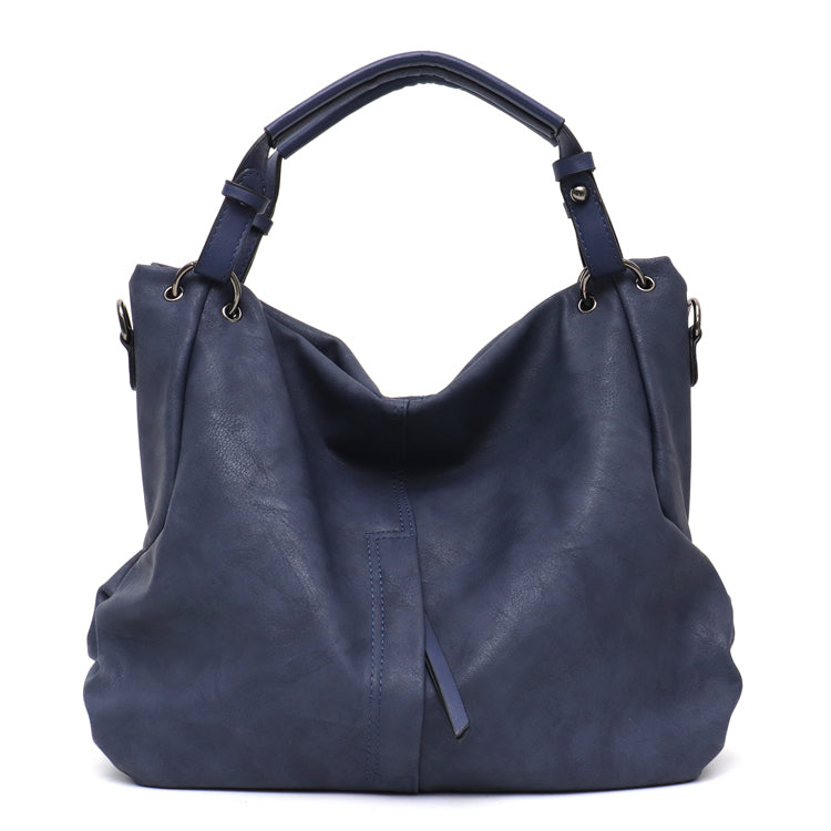 8a8a20efd4db Large Women's PU Leather Handbags High Quality Female Pu Hobos Shoulder  Bags Solid Pocket Ladies Solid Ladies Totes