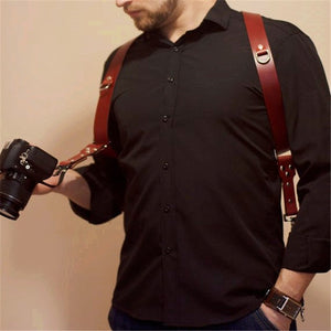Outdoor Travel Camera Leather Vest Belt