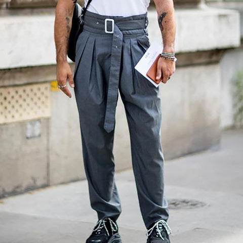 Design Mens Fashion Belt Casual Pants