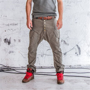 Mens casual loose tooling trousers