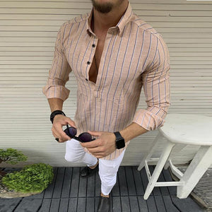 Fashion Casual Striped Men's   Shirts