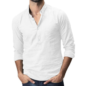 Simple Basic Section Pure Colour Shirt