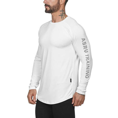 Casual Fitness Mesh Long Sleeve T-Shirt